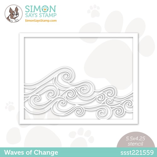 Simon Says Stamp Stencil WAVES OF CHANGE ssst221559 Stamptember Preview Image