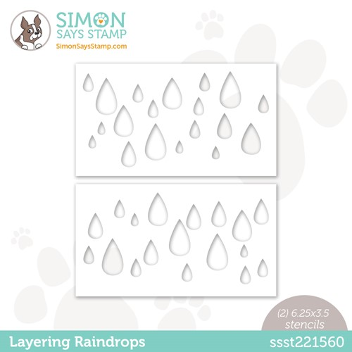 Simon Says Stamp Stencils LAYERING RAINDROPS ssst221560 Stamptember Preview Image