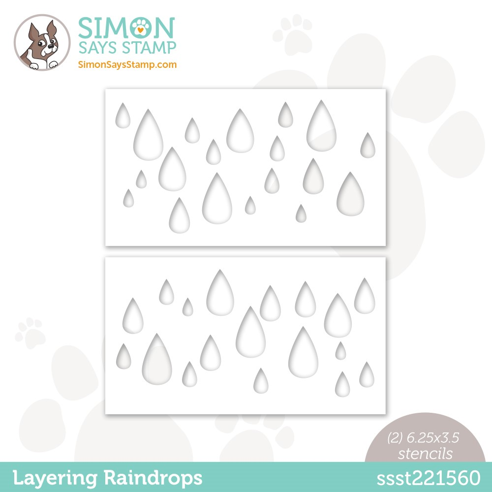 Simon Says Stamp Stencils LAYERING RAINDROPS ssst221560 Stamptember zoom image