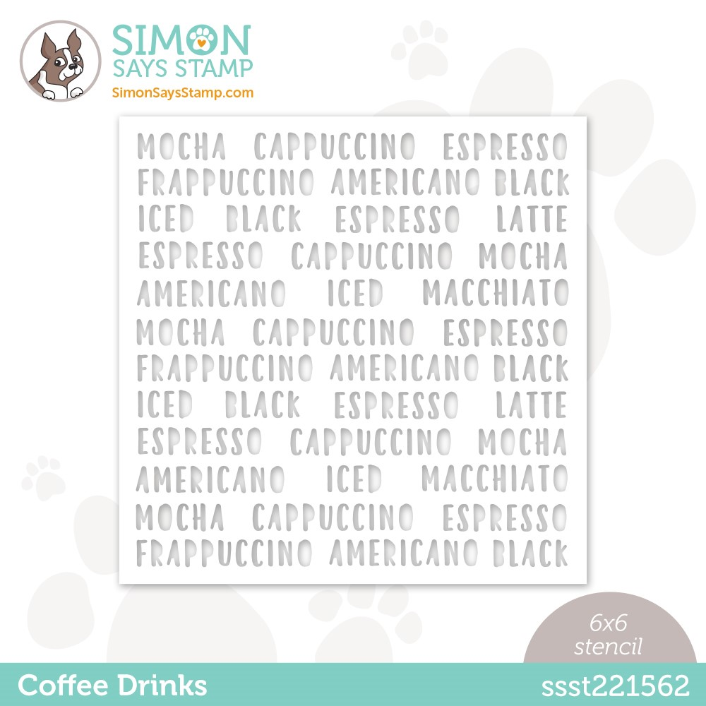 Simon Says Stamp Stencil COFFEE DRINKS ssst221562 Stamptember zoom image