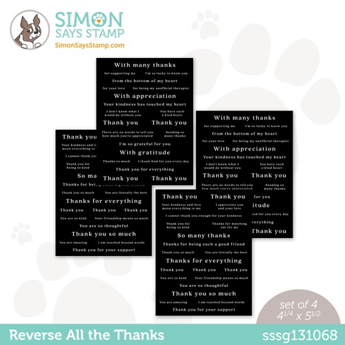 Simon Says Stamp Sentiment Strips REVERSE ALL THE THANKS sssg131068 Stamptember Preview Image