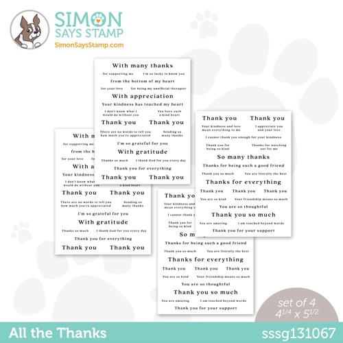 Simon Says Stamp Sentiment Strips ALL THE THANKS sssg131067 Stamptember Preview Image