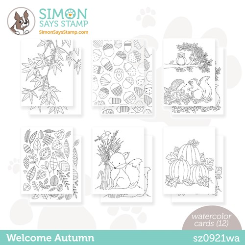 Simon Says Stamp Suzy's WELCOME AUTUMN Watercolor Prints sz0921wa Stamptember Preview Image