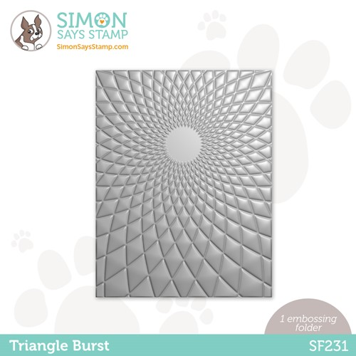 Simon Says Stamp Embossing Folder TRIANGLE BURST sf231 Stamptember Preview Image