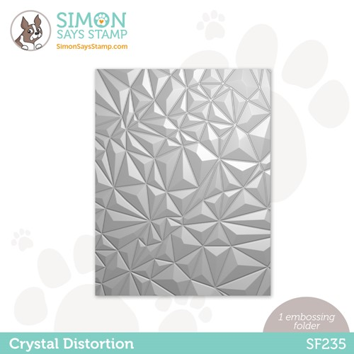 Simon Says Stamp Embossing Folder CRYSTAL DISTORTION sf235 Stamptember Preview Image