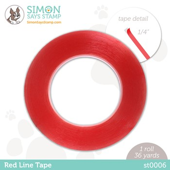 Simon Says Stamp RED LINE TAPE 1/4 Inch st0006 Stamptember