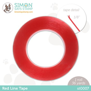 Simon Says Stamp RED LINE TAPE 1/8 Inch st0007 Stamptember