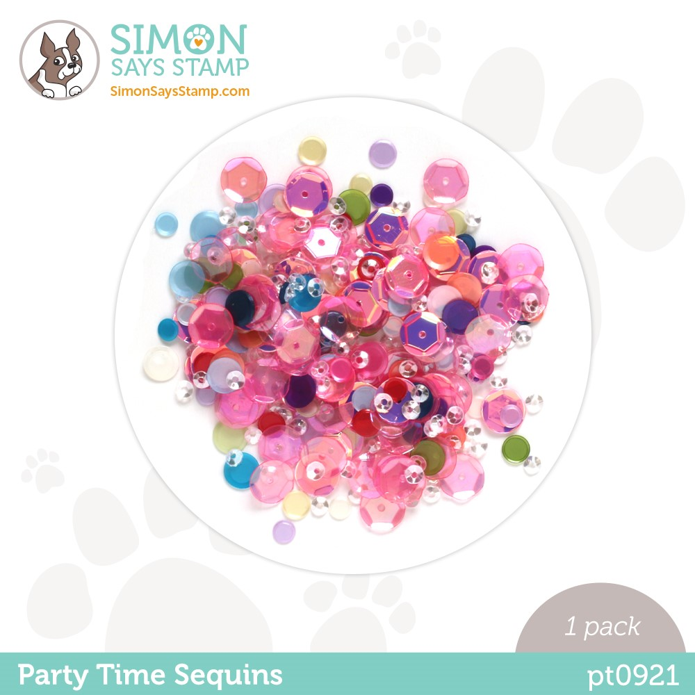 Simon Says Stamp Sequins PARTY TIME pt0921 Stamptember zoom image