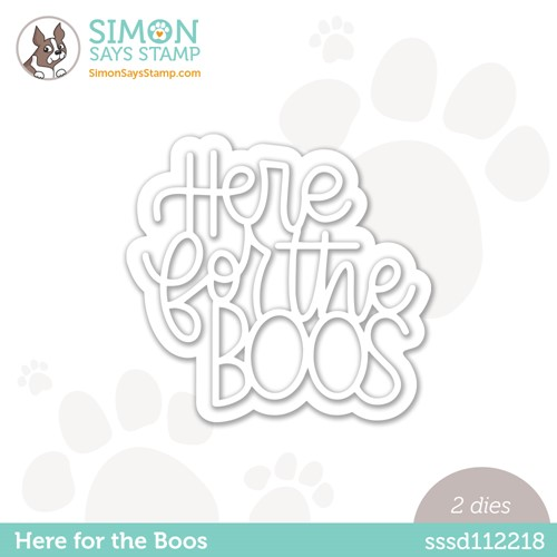 Simon Says Stamp HERE FOR THE BOOS Wafer Dies sssd112218 Stamptember Preview Image