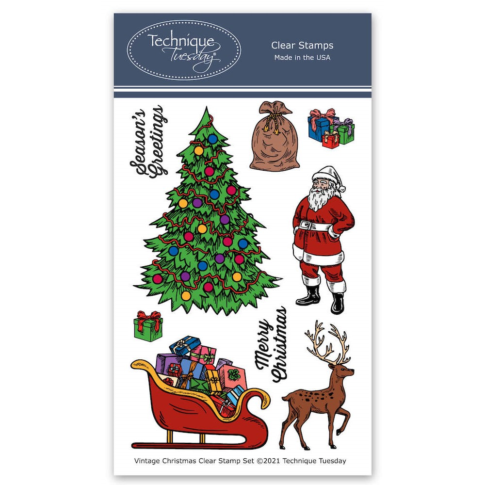 Technique Tuesday VINTAGE CHRISTMAS Clear Stamp Set vinta zoom image