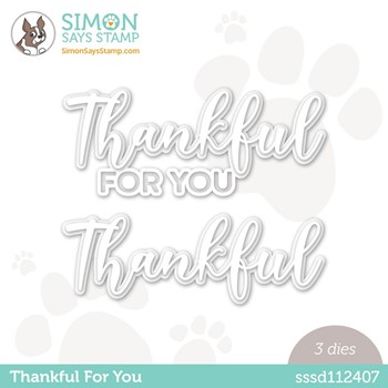 Simon Says Stamp THANKFUL FOR YOU Wafer Dies sssd112407 Stamptember