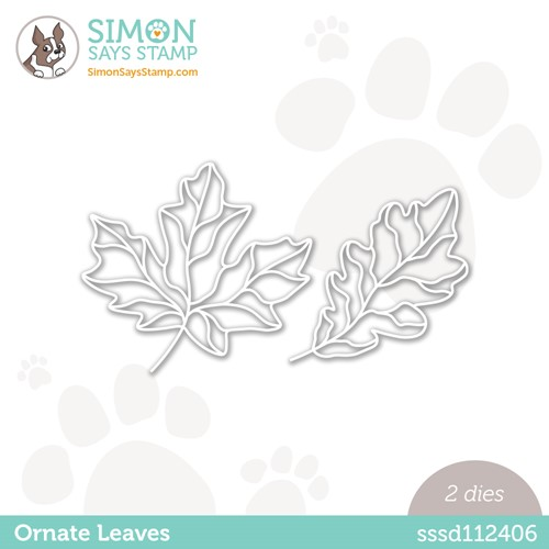 Simon Says Stamp ORNATE LEAVES Wafer Dies sssd112406 Stamptember Preview Image