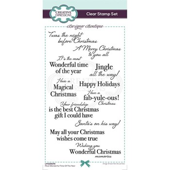 Creative Expressions MOST WONDERFUL TIME OF THE YEAR Clear Stamps umsdb079