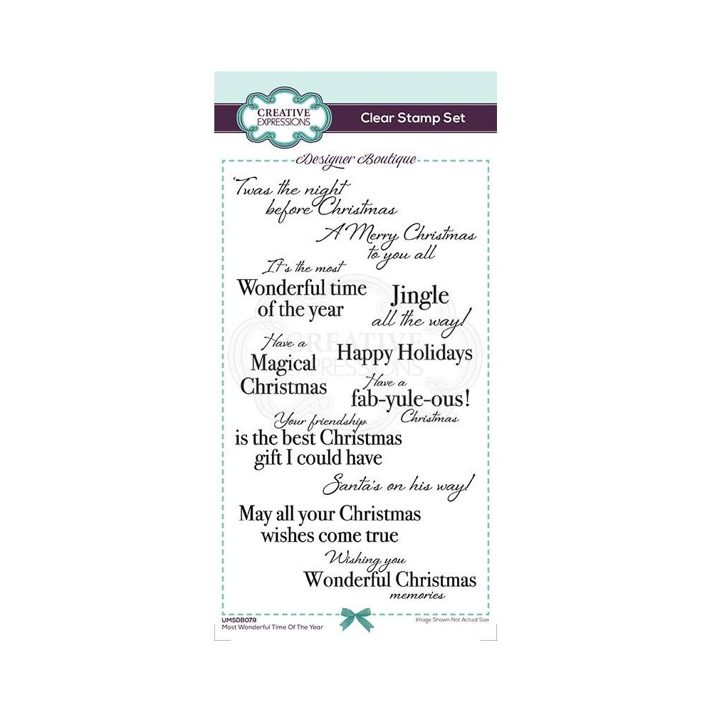 Creative Expressions MOST WONDERFUL TIME OF THE YEAR Clear Stamps umsdb079 zoom image