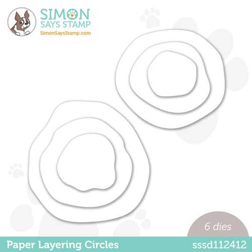 Simon Says Stamp PAPER LAYERING CIRCLES Wafer Dies sssd112412 Stamptember Preview Image