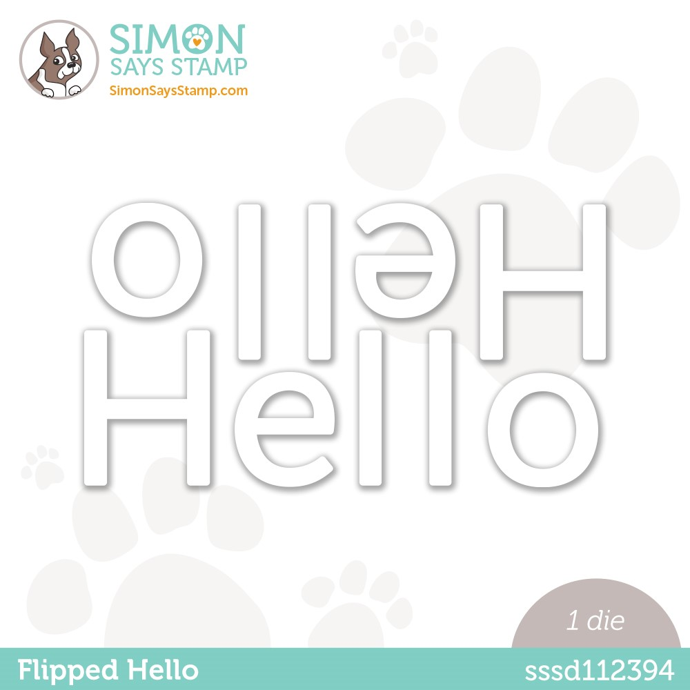 Simon Says Stamp FLIPPED HELLO Wafer Die sssd112394 Stamptember zoom image