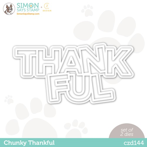 CZ Design Wafer Dies CHUNKY THANKFUL czd144 Stamptember Preview Image