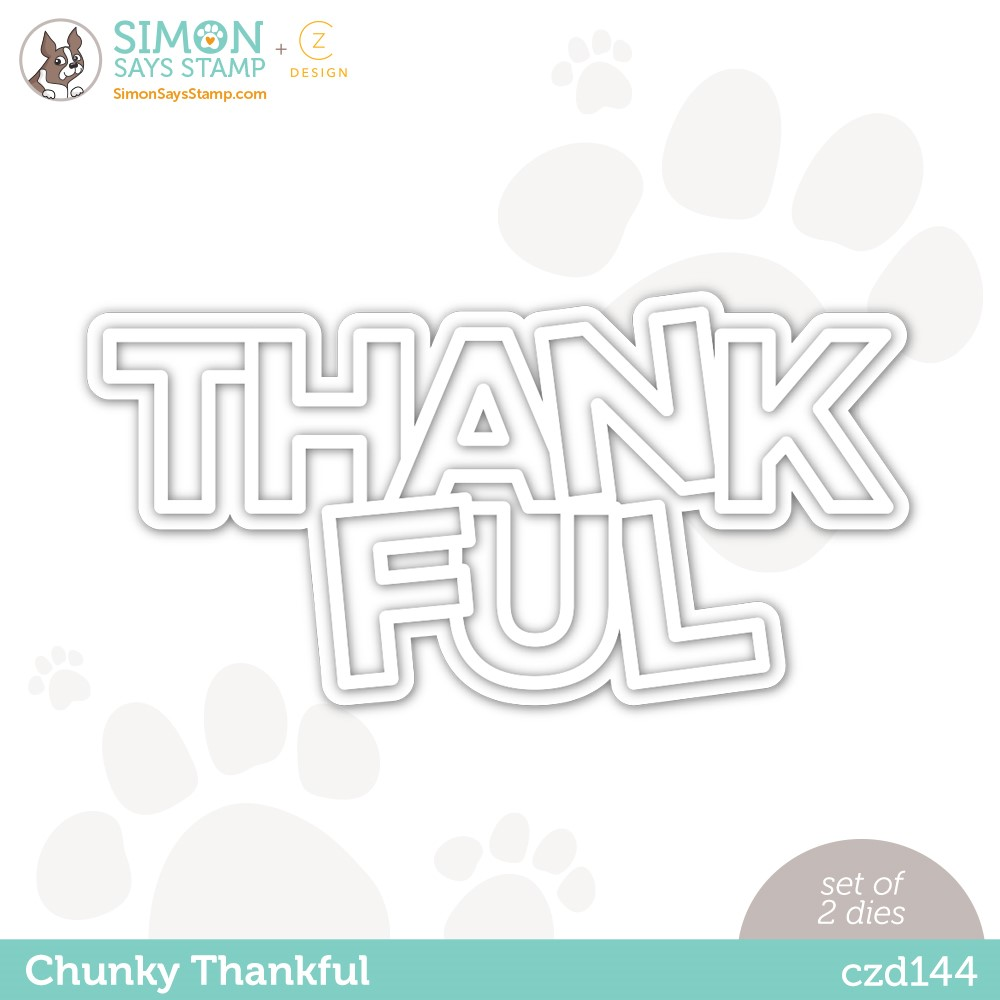 CZ Design Wafer Dies CHUNKY THANKFUL czd144 Stamptember zoom image