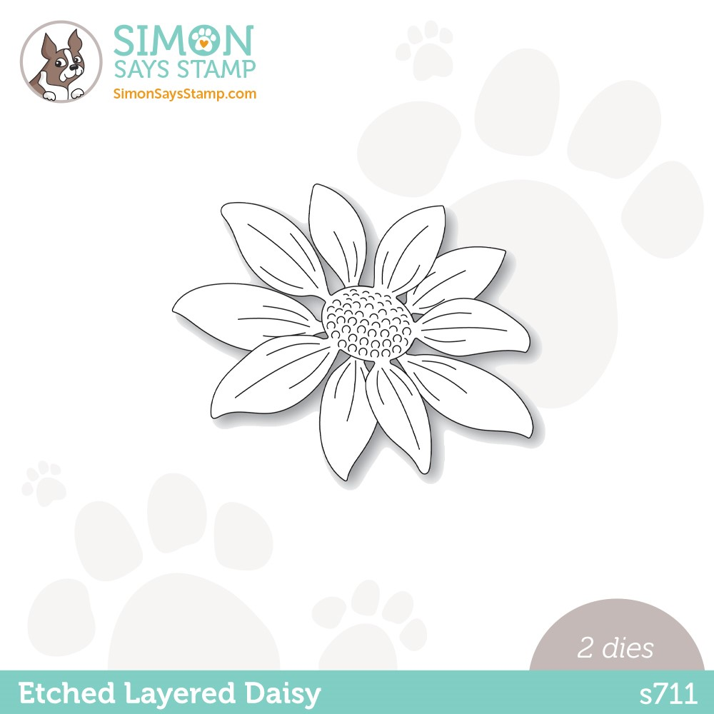 Simon Says Stamp ETCHED LAYERED DAISY Wafer Dies s711 Stamptember zoom image