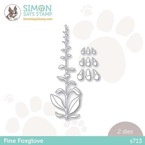 Simon Says Stamp FINE FOXGLOVE Wafer Dies s713 Stamptember Preview Image