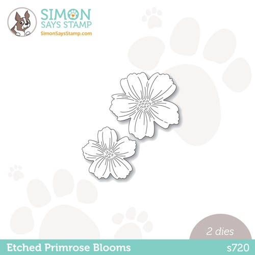 Simon Says Stamp ETCHED PRIMROSE BLOOMS Wafer Dies s720 Stamptember Preview Image