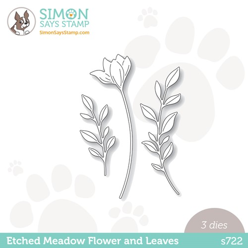 Simon Says Stamp ETCHED MEADOW FLOWER AND LEAVES Wafer Dies s722 Stamptember Preview Image