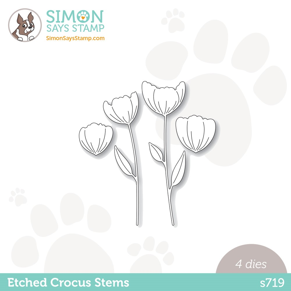 Simon Says Stamp ETCHED CROCUS STEMS Wafer Dies s719 Stamptember zoom image