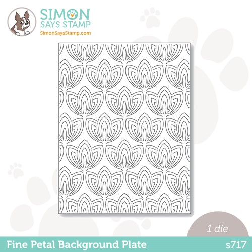 Simon Says Stamp FINE PETAL BACKGROUND PLATE Wafer Die s717 Stamptember Preview Image