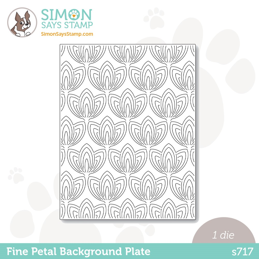 Simon Says Stamp FINE PETAL BACKGROUND PLATE Wafer Die s717 Stamptember zoom image