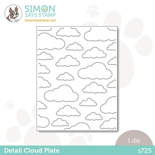 Simon Says Stamp DETAIL CLOUD PLATE Wafer Die s725 Stamptember Preview Image