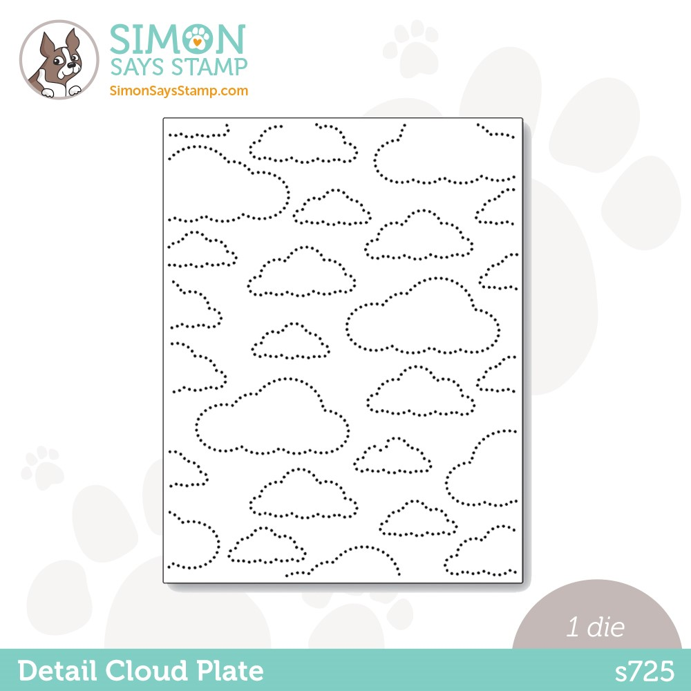 Simon Says Stamp DETAIL CLOUD PLATE Wafer Die s725 Stamptember zoom image
