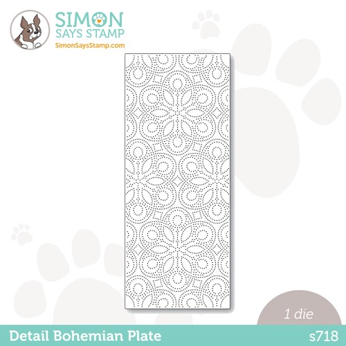 Simon Says Stamp DETAIL BOHEMIAN SLIM PLATE Wafer Die s718 Stamptember Preview Image