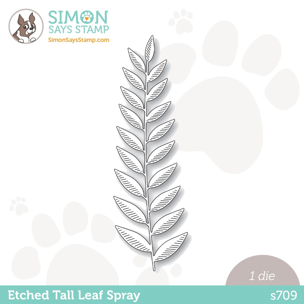 Simon Says Stamp ETCHED TALL LEAF SPRAY Wafer Die s709 Stamptember zoom image