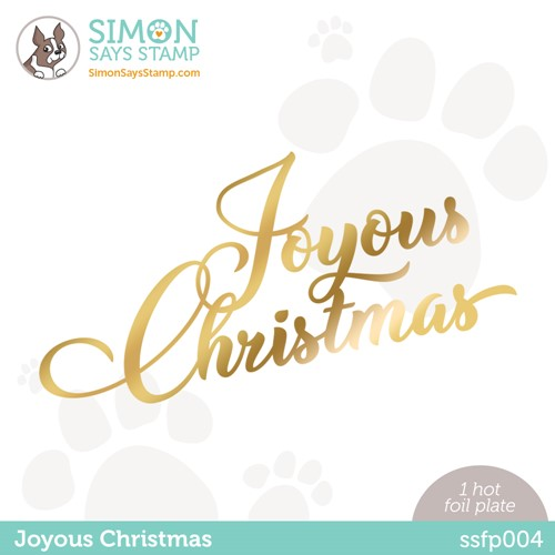 Simon Says Stamp JOYOUS CHRISTMAS Hot Foil Plate ssfp004 Stamptember Preview Image