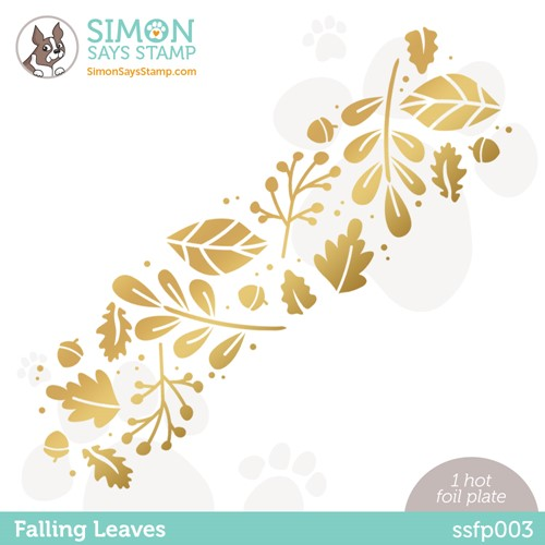 Simon Says Stamp FALLING LEAVES Hot Foil Plate ssfp003 Stamptember Preview Image