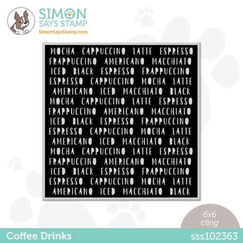 Simon Says Cling Stamp COFFEE DRINKS sss102363 Stamptember Preview Image