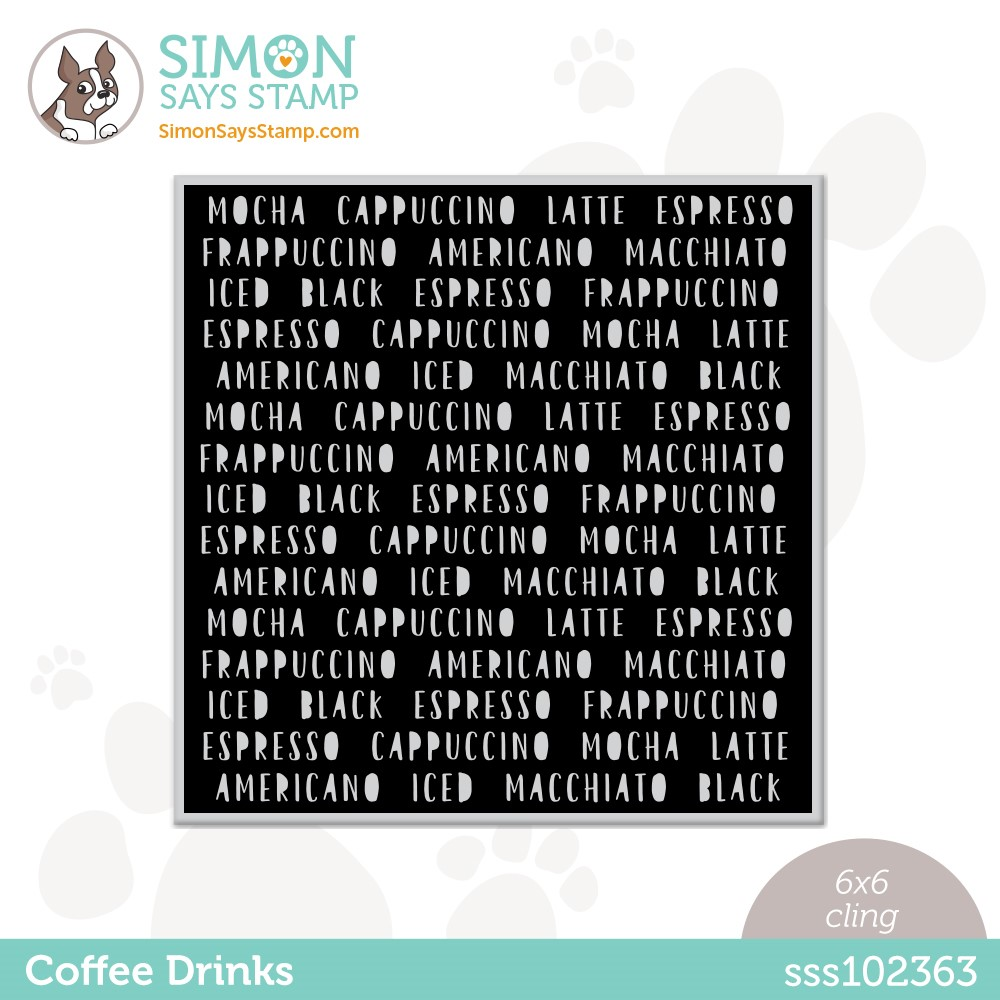 Simon Says Cling Stamp COFFEE DRINKS sss102363 Stamptember zoom image