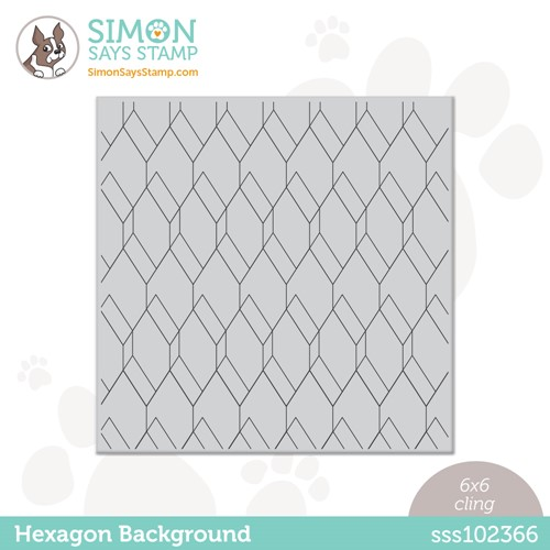 Simon Says Cling Stamp HEXAGON BACKGROUND sss102366 Stamptember Preview Image