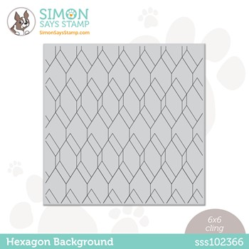 Simon Says Cling Stamp HEXAGON BACKGROUND sss102366 Stamptember
