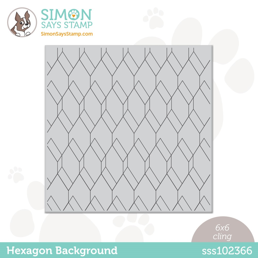 Simon Says Cling Stamp HEXAGON BACKGROUND sss102366 Stamptember zoom image