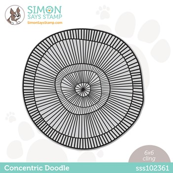 RESERVE Simon Says Cling Stamp CONCENTRIC DOODLE sss102361 Stamptember