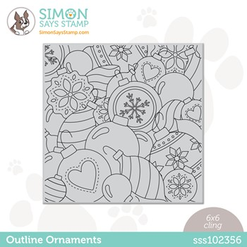 Simon Says Cling Stamp OUTLINE ORNAMENTS sss102356 Stamptember