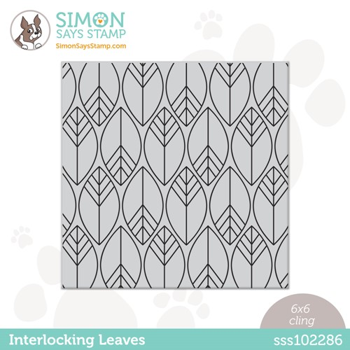 Simon Says Cling Stamp INTERLOCKING LEAVES sss102286 Stamptember Preview Image