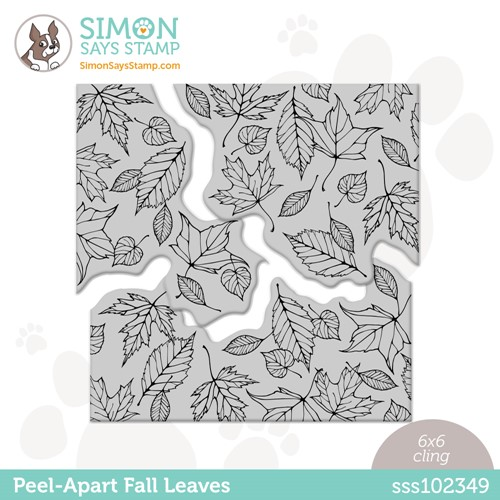 Simon Says Cling Stamp PEEL APART LEAVES sss102349 Stamptember Preview Image