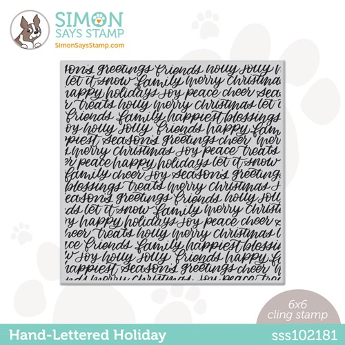 Simon Says Cling Stamp HAND LETTERED HOLIDAY BACKGROUND sss102181 Stamptember Preview Image