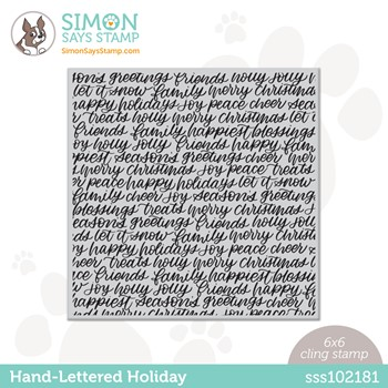 Simon Says Cling Stamp HAND LETTERED HOLIDAY BACKGROUND sss102181 Stamptember
