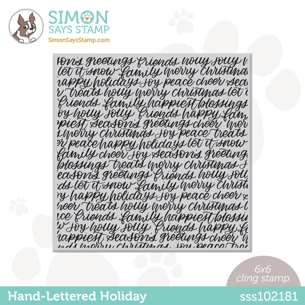 Simon Says Cling Stamp HAND LETTERED HOLIDAY BACKGROUND sss102181 Stamptember zoom image