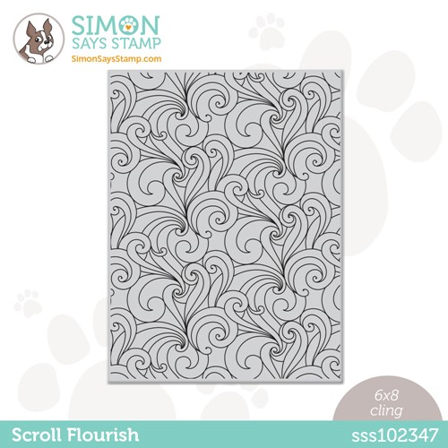 Simon Says Cling Stamp SCROLL FLOURISH sss102347 Stamptember Preview Image