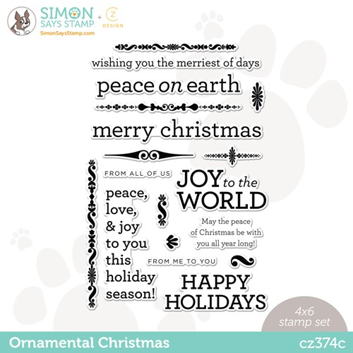 CZ Design Clear Stamps ORNAMENTAL CHRISTMAS cz374c Stamptember Preview Image