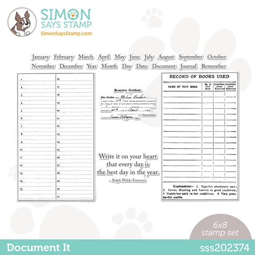 Simon Says Clear Stamps DOCUMENT IT sss202374 Stamptember Preview Image